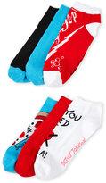 Betsey Johnson 6-Pack Low Cut Pizza Socks