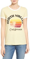 Lucky Brand Women's Death Valley Graphic Ringer Tee