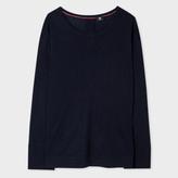 Paul Smith Women's Navy Button-Back Merino Wool Sweater