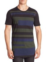 Diesel Black Gold Placed Stripes T-Shirt