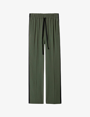 Zadig & Voltaire Poeme side-striped crepe trousers