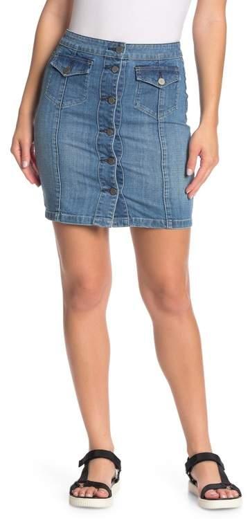 848964db2 Button Front Denim Skirt - ShopStyle