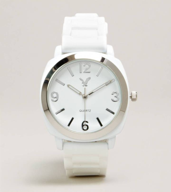 American Eagle AEO White Rubber Watch