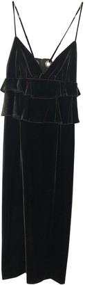 Mother of Pearl Green Velvet Dresses