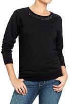 Old Navy Women's Embellished-Raglan Sweatshirts