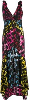 Diane von Furstenberg V-neck graphic print silk dress