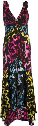 Dvf Diane Von Furstenberg V-neck graphic print silk dress