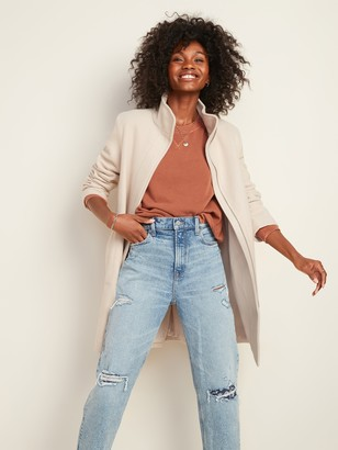 Old Navy Relaxed Soft-Brushed Funnel-Neck Coat for Women