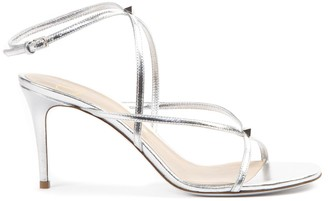 Valentino Garavani Rockstud Silver Leather Sandal