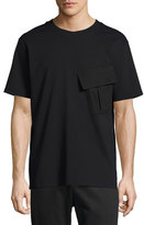 Public School Twill Ponte Flap-Pocket T-Shirt, Black