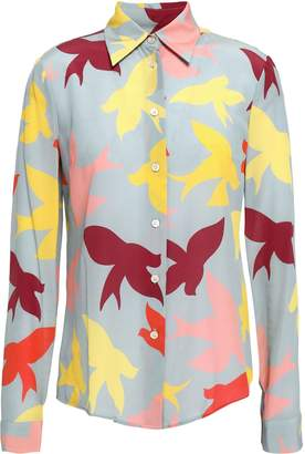 RED Valentino Printed Silk Crepe De Chine Shirt