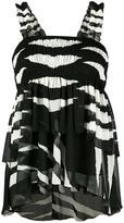 Tory Burch zebra print blouse - women - Polyester - 4