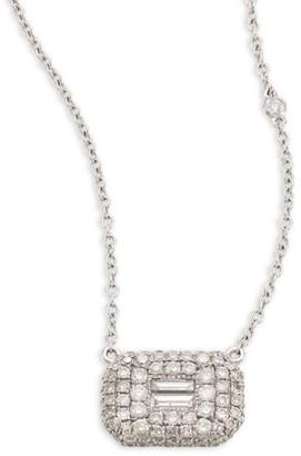 Shay EssentialsBaguette Diamond & 18K White Gold Pendant Necklace