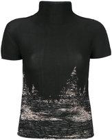 Issey Miyake turtle neck T-shirt