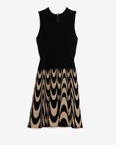 Parker Exclusive Print Skirt Flare Knit Sleeveless Dress