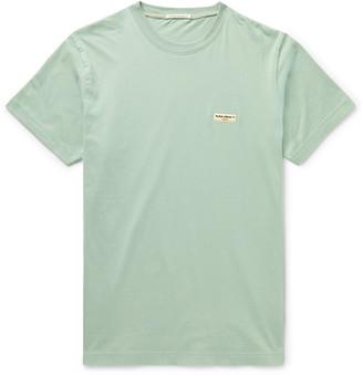 Nudie Jeans Daniel Logo-Appliqued Organic Cotton-Jersey T-Shirt