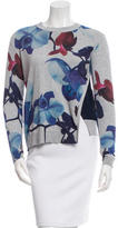 Yigal Azrouel Orchid Printed Sweater