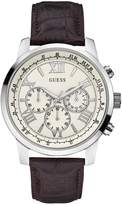 GUESS Brown and Silver-Tone Classic Chronograph Watch