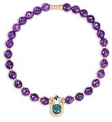 Mellerio Diamond and tourmaline pendant amethyst necklace