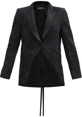 Ann Demeulemeester Lace-applique Fleecewool-blend Jacket - Black