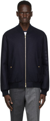 Thom Browne Navy Down Engineered Bomber Jacket