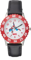 Spiderman Marvel Boy's Leather Time Teacher Watch