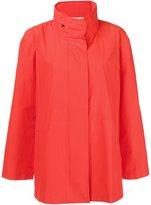 Eileen Fisher funnel neck raincoat