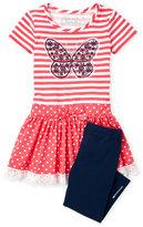 Flapdoodles Girls 4-6x) Two-Piece Picnic Dress & Leggings Set