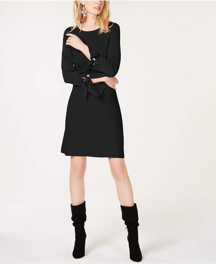 I.n.c. Petite Grommet-Detail Sweater Dress