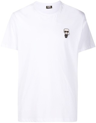 Karl Lagerfeld Paris logo-patch crew neck T-shirt