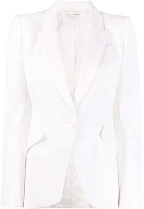 Alexander McQueen Single-Breasted Peaked Lapels Blazer