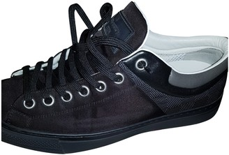 Louis Vuitton Black Cloth Trainers