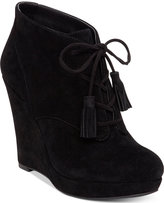 Jessica Simpson Cyntia Lace-Up Wedge Booties