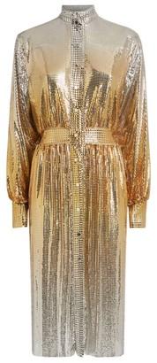 Paco Rabanne Mesh Sequin Shirt Dress