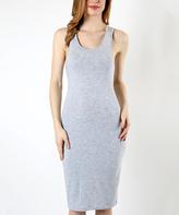 Heather Gray Crisscross Bodycon Dress