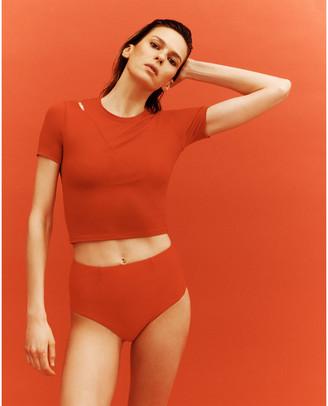 G. Sport x Proenza Schouler Short-Sleeve Cutout Top