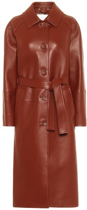 Common Leisure Slow Dance belted leather coat