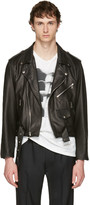 Enfants Riches Deprimes Black Leather Checkerboard Jacket