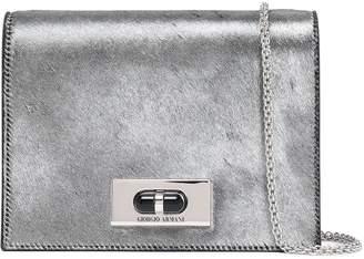 Giorgio Armani Metallic Calf Hair Shoulder Bag