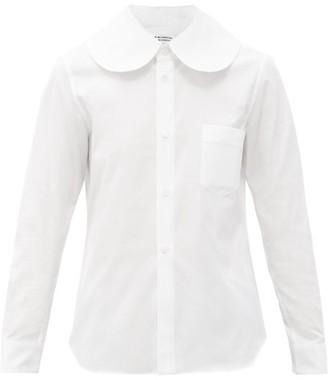 Comme des Garçons Comme des Garçons Sailor-collar Cotton-poplin Shirt - White