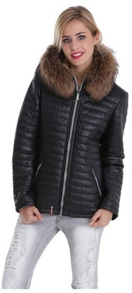 Oakwood Happy 61677 Women's Down Jacket Leather Black - Black - XXL