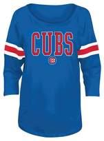 MLB Women's Foil Screen Print 3/4 Sleeve Spirit T-Shirt (Juniors)