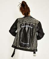 The People Vs The End Motor Leather Jacket Black