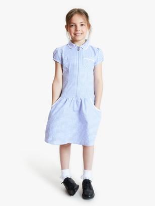 John Lewis & Partners School Gingham A-Line Summer Dress
