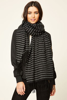 Forever 21 FOREVER 21+ Striped Tasseled Scarf