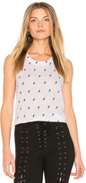 Monrow Lightning Tank in White. - size L (also in M)