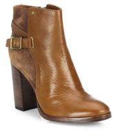 Frye Claude Jodhpur Leather & Suede Block-Heel Booties