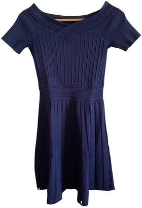 Sandro Spring Summer 2018 Blue Cotton Dress for Women