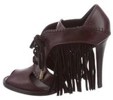 Louis Vuitton Leather Fringe-Accented Booties