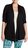 Electric Yoga Open Long Sleeve Cardigan (Plus Size)